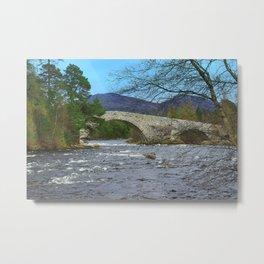 Bridge of Dee, Brig O Dee, River Dee, Balmoral, Scotland Metal Print