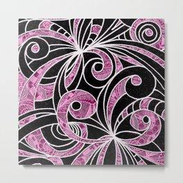 Drawing Floral Zentangle G204 Metal Print
