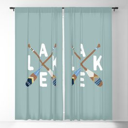 LAKE LIFE Painted Paddle Oars Blackout Curtain