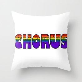Rainbow Chorus Throw Pillow