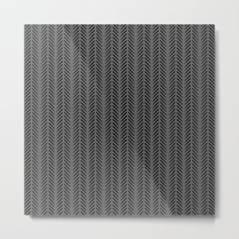 Gray Fashion Print Metal Print