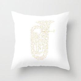 Tuba Player Gift Idea Throw Pillow