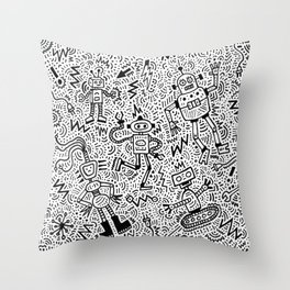 Robots? Yes (2020) Throw Pillow