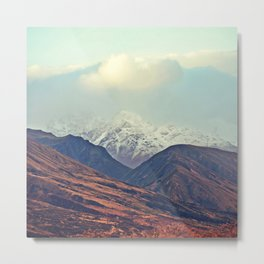 Dusk Descends on the Mountains Metal Print