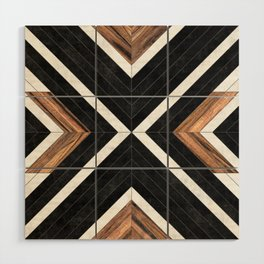 Urban Tribal Pattern No.1 - Concrete and Wood Wood Wall Art