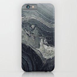 Dark Gray Marble Pattern iPhone Case