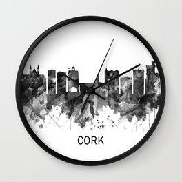 Cork Ireland  Skyline BW Wall Clock