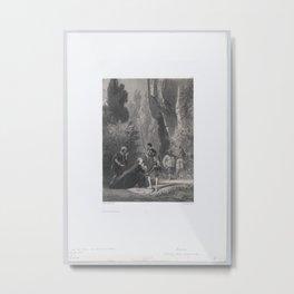 The Princess of Micomicona, from Don Quixote,1866 Metal Print