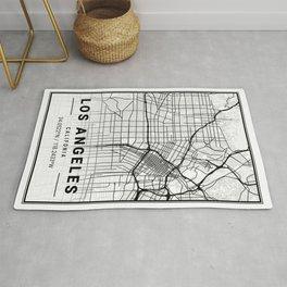 Los Angeles Light City Map Rug