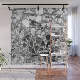 Silver Mirrored Mosaic Wall Mural