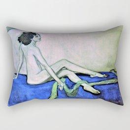 Portrait of Ida Rubinstein - Valentin Alexandrovich Serov Rectangular Pillow