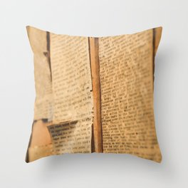 Typed Throw Pillow