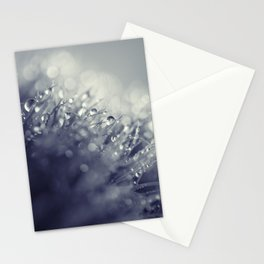 blue with drops Stationery Cards