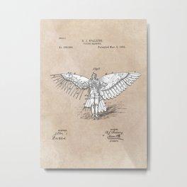patent art Spalding Flying Machine 2    1889 Metal Print