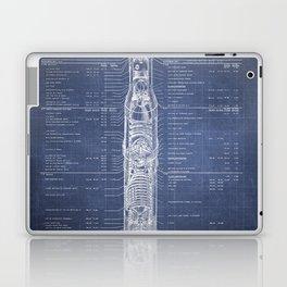 Apollo 11 Saturn V Blueprint in High Resolution (dark blue) Laptop & iPad Skin
