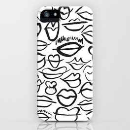 Sketchy Lips iPhone Case