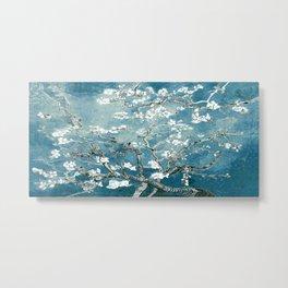 Vincent Van Gogh Almond Blossoms Teal Metal Print