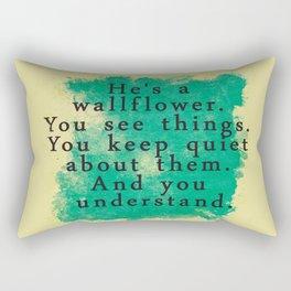 Wallflower Rectangular Pillow