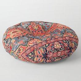 Kashan Poshti Central Persian Rug Print Floor Pillow