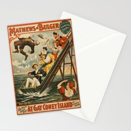 Mathews and Bulger at Gay Coney Island Stationery Cards