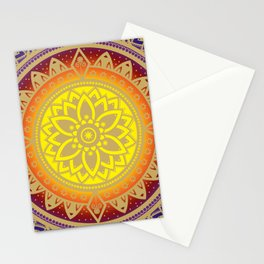 Mandala Infinite Light Spiritual Zen Bohemian Hippie Yoga Mantra Meditation Stationery Cards