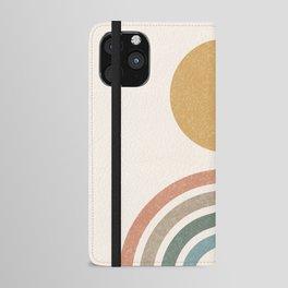 Mid-Century Modern Rainbow iPhone Wallet Case