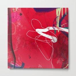 Aspiring Delight -Modern Abstract Painting- Metal Print