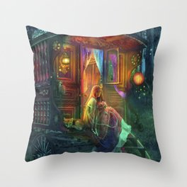 Gypsy Firefly Throw Pillow