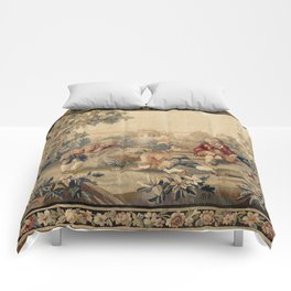 Aubusson  Antique French Tapestry Print Comforters