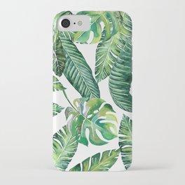Jungle Leaves, Banana, Monstera #society6 iPhone Case