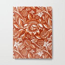 William Morris Sunflowers, Mandarin Orange Metal Print
