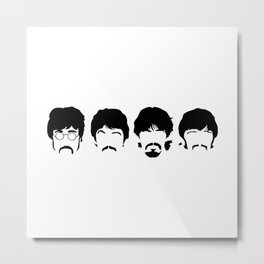The Fab Four Sillouette Metal Print