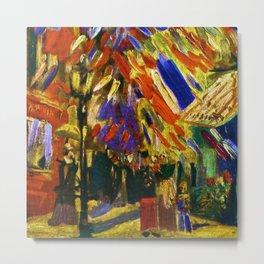 Fourteenth of July Celebration in Paris by Vincent van Gogh Metal Print