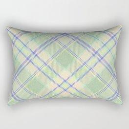 Green Tartan Rectangular Pillow