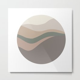 Circle landscape palette one Metal Print