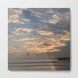 Sunrise On Flagler Beach Metal Print