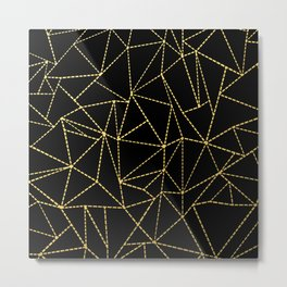 Ab Dotted Gold Metal Print