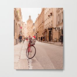 Paris bicycle - A bike in the Marais Metal Print