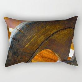 The Wooden Chair_Wooden Wheel Rectangular Pillow