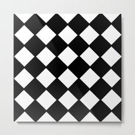 optical pattern 72 domino Metal Print