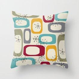 Mid Century Modern Shapes 01 #society6 #buyart  Throw Pillow