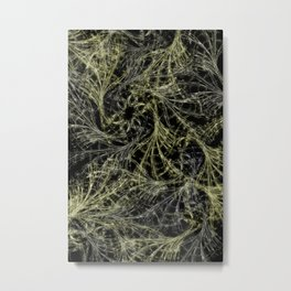 Yellow Magical Wisps Metal Print