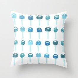 Be a Little Doorkey - Blue Throw Pillow