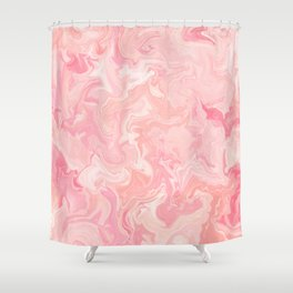 Blush pink abstract watercolor marble pattern Duschvorhang