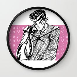aesthetic josuke [white] Wall Clock