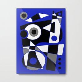 Abstract #505 Blue Metal Print