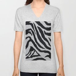ZEBRA STRIPE PATTERN Unisex V-Neck