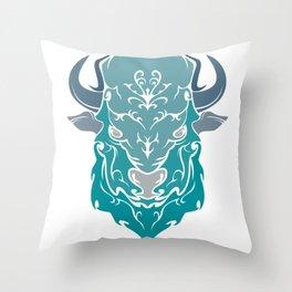 OX GREEN Throw Pillow