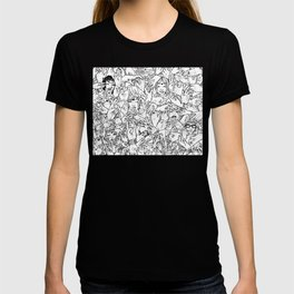 Face'in the hands T-shirt