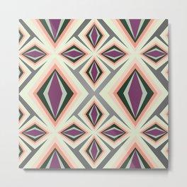 Contemporary Geometric Design Metal Print